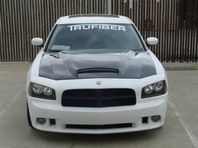Dodge Charger Carbon Fiber Parts - Dodge Charger Carbon Fiber Hood - TruCarbon - TruCarbon A9 Carbon Fiber Hood: Dodge Charger 2006 - 2010