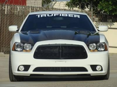 Dodge Charger Carbon Fiber Parts - Dodge Charger Carbon Fiber Hood - TruCarbon - TruCarbon A58 Carbon Fiber Hood: Dodge Charger 2011 - 2014