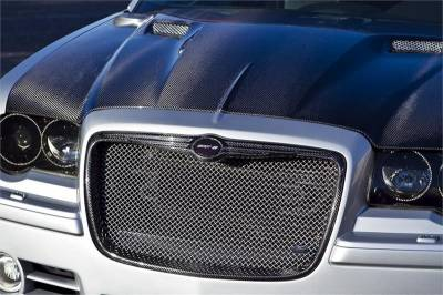 Chrysler 300 Carbon Fiber Parts - Chrysler 300 Carbon Fiber Trim - TruCarbon - TruCarbon LG135 Carbon Fiber Grille: Chrysler 300 / 300C 2005 - 2010