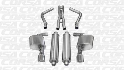 Corsa - Corsa Sport Cat-Back Exhaust (Polished): Dodge Charger SRT8 2012 - 2014
