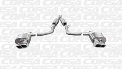 5.7L / 6.1L / 6.4L Hemi Engine Parts - Hemi Exhaust Systems - Corsa - Corsa Extreme Cat-Back Exhaust (Polished - Manual Transmission): Dodge Challenger SRT8 6.4L V8 2011 - 2014