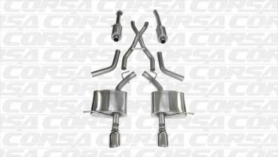 Corsa - Corsa Exhaust System (Polished): Dodge Durango 5.7L Hemi 2011 - 2019