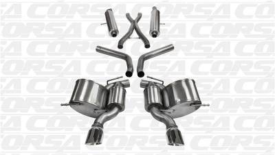 Corsa - Corsa Sport Cat-Back Exhaust (Polished): Jeep Grand Cherokee SRT8 2012 - 2019