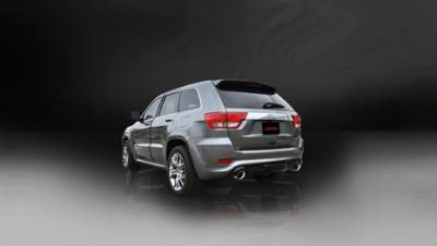 Corsa - Corsa Sport Cat-Back Exhaust (Polished): Jeep Grand Cherokee 6.4L SRT 2012 - 2021 - Image 2