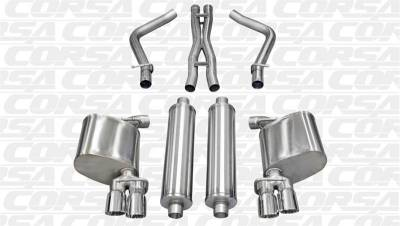 Corsa - Corsa Sport Cat-Back Exhaust (Polished): Dodge Charger R/T 5.7L V8 2011 - 2014