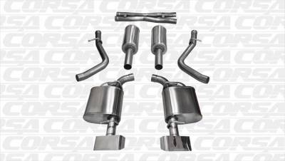 Corsa - Corsa Xtreme Exhaust System (Polished): Dodge Challenger 5.7L Hemi 2015 - 2018