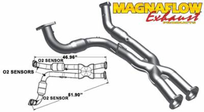 5.7L / 6.1L / 6.4L Hemi Engine Parts - Hemi Headers & Mid Pipes - Magnaflow - MagnaFlow Catalytic Converter: Jeep Grand Cherokee SRT8 2006 - 2010