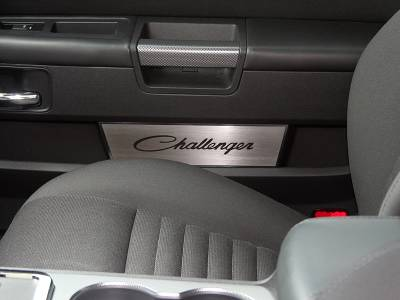 American Car Craft - American Car Craft Brushed Door Badge Plate (Challenger): Dodge Challenger 2008 - 2016