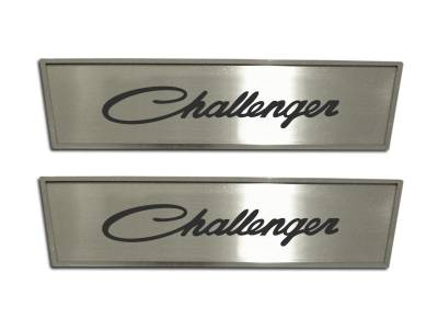 American Car Craft - American Car Craft Brushed Door Badge Plate (Challenger): Dodge Challenger 2008 - 2020 - Image 2