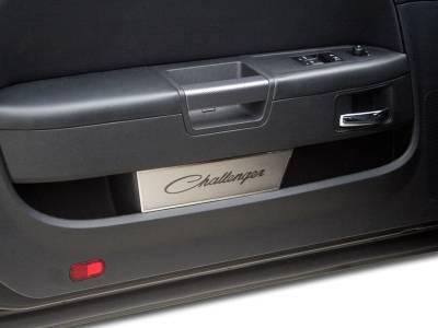 American Car Craft - American Car Craft Brushed Door Badge Plate (Challenger): Dodge Challenger 2008 - 2020 - Image 3