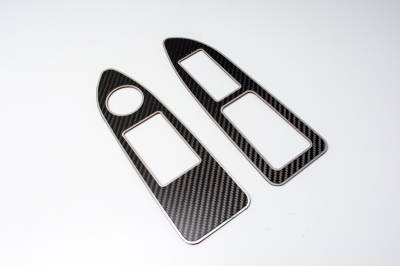 HEMI CARBON FIBER PARTS - Hemi Carbon Fiber Interior - American Car Craft - American Car Craft Carbon Fiber Arm Control Trim Plate: Dodge Challenger R/T SRT8 2008 - 2014