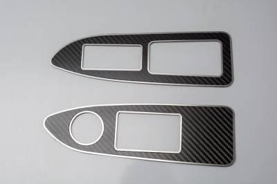 American Car Craft - American Car Craft Carbon Fiber Arm Control Trim Plate: Dodge Challenger R/T SRT8 2008 - 2014 - Image 2