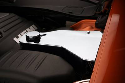 American Car Craft - American Car Craft Polished Water Tank Cover w/ Cap: Dodge Challenger 2011 - 2021 (V8 Models) - Image 1