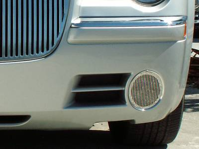 American Car Craft - American Car Craft Fog Light Grille Polished Billet Style: Chrysler 300C 2005 - 2010 - Image 2