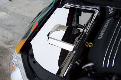 Dodge Magnum Engine Accessories - Dodge Magnum Stainless Accessories - American Car Craft - American Car Craft Polished Inner Fender Covers: 300C / Charger / Magnum 5.7L Hemi 2005 - 2010
