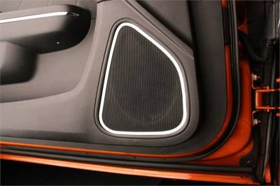 American Car Craft - American Car Craft Front Door Speaker Trim (Polished): Dodge Charger R/T 2011 - 2014 - Image 2