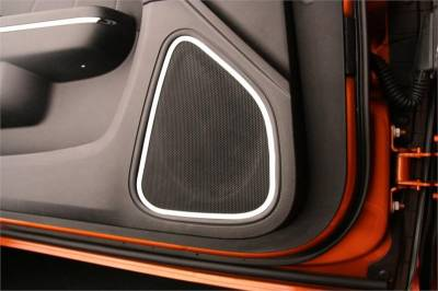 American Car Craft - American Car Craft Front Door Speaker Trim (Polished): Dodge Charger R/T 2011 - 2014 - Image 3