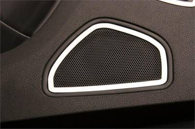 HEMI INTERIOR PARTS - Hemi Interior Trim Accessories - American Car Craft - American Car Craft Rear Door Speaker Trim (Polished): Dodge Charger R/T 2011 - 2014