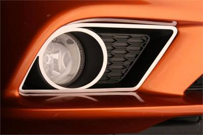 American Car Craft - American Car Craft Fog Light Trim Rings (Polished): Dodge Charger R/T 2011 - 2014 - Image 2