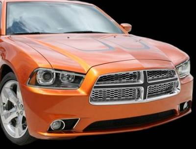 HEMI EXTERIOR PARTS - Hemi Grilles - American Car Craft - American Car Craft Polished Grille Overlay: Dodge Charger R/T 2011 - 2014