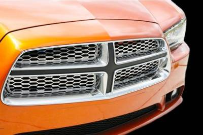 American Car Craft - American Car Craft Polished Grille Overlay: Dodge Charger R/T 2011 - 2014 - Image 2