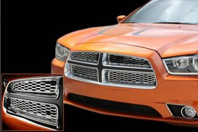 American Car Craft - American Car Craft Polished Grille Overlay: Dodge Charger R/T 2011 - 2014 - Image 3