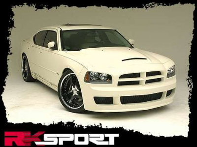 Dodge Charger Exterior Parts - Dodge Charger Hood - RK Sport - RK Sport Ram Air Hood: Dodge Charger 2005 - 2010