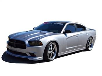 RK Sport - RK Sport Ground Effects Kit with Carbon Fiber Front Lower Valance: Dodge Charger 2011 - 2014 - Image 3