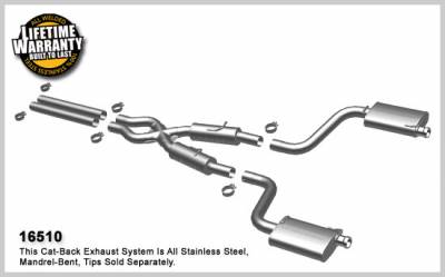 Magnaflow - MagnaFlow Cat-Back Exhaust (Street Series): Dodge Challenger SRT8 2008 - 2014 - Image 1