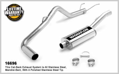 Dodge Ram Engine Performance - Dodge Ram Exhaust System - Magnaflow - MagnaFlow Cat-Back Exhaust: Dodge Ram 2006 5.7L Hemi (Solid Front Axle)