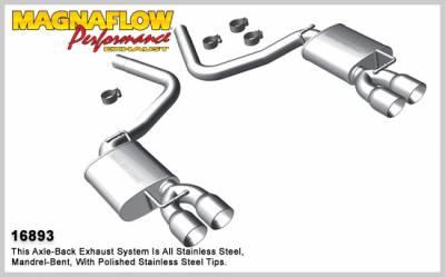 Magnaflow - MagnaFlow Axle-Back Exhaust (Street Series): Dodge Challenger 5.7 L Hemi 2009 - 2014 - Image 2