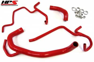 DODGE MAGNUM PARTS - Dodge Magnum Cooling Parts - HPS - HPS Silicone Radiator Hose Kit: 300C / Challenger / Charger 6.4L SRT8 2011 - 2018