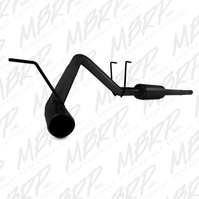 "MBRP - MBRP Cat-Back 3"" Single Side Exhaust (Black Powdercoat): Dodge Ram 5.7L Hemi 2009 - 2018"