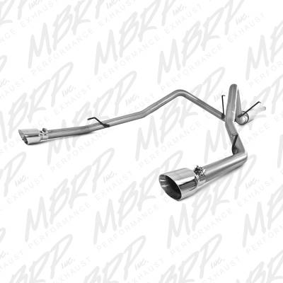 "MBRP - MBRP Cat-Back 3"" Dual Split Rear (through stock bumper) Exhaust: Dodge Ram 5.7L Hemi 2009 - 2018"