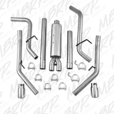 """MBRP - MBRP Cat-Back 3"""" Dual Split Rear (through stock bumper) Exhaust: Dodge Ram 5.7L Hemi 2009 - 2018 - Image 3"""