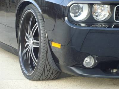 TruCarbon - TruCarbon LG41 Carbon Fiber Splash Guards: Dodge Challenger 2008 - 2014 - Image 3