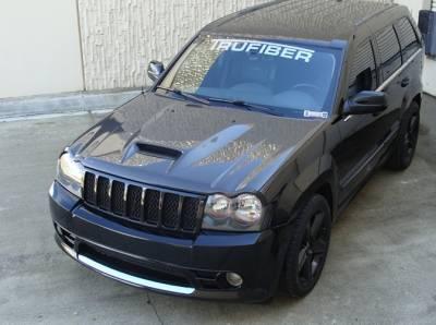 TruCarbon - TruCarbon A23 Carbon Fiber Hood: Jeep Grand Cherokee 2005 - 2010 - Image 2
