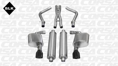 5.7L / 6.1L / 6.4L Hemi Engine Parts - Hemi Exhaust Systems - Corsa - Corsa Sport Cat-Back Exhaust (Black): Chrysler 300C SRT8 2012 - 2014