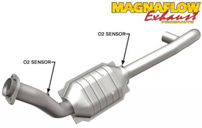 5.7L / 6.1L / 6.4L Hemi Engine Parts - Hemi Headers & Mid Pipes - Magnaflow - MagnaFlow Catalytic Converter (Driver Side): Dodge Ram 2004 - 2005 5.7L Hemi