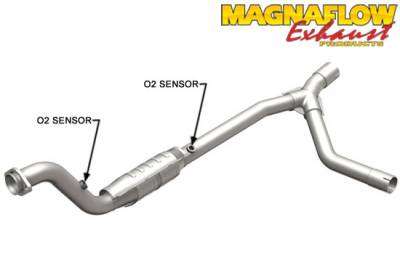 5.7L / 6.1L / 6.4L Hemi Engine Parts - Hemi Headers & Mid Pipes - Magnaflow - MagnaFlow Catalytic Converter (Passenger Side): Dodge Ram 2004 - 2005 5.7L Hemi