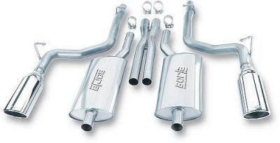 "Borla - Borla S-Type Exhaust System w/5"" Rolled Edge Tips: Chrysler 300C / Dodge Charger / Dodge Magnum 2005 - 2010 (5.7L Hemi)"