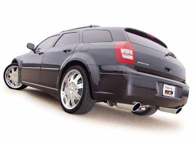 "Borla - Borla S-Type Exhaust System w/5"" Rolled Edge Tips: Chrysler 300C / Dodge Charger / Dodge Magnum 2005 - 2010 (5.7L Hemi) - Image 2"