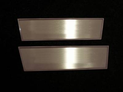 HEMI INTERIOR PARTS - Hemi Interior Trim Accessories - American Car Craft - American Car Craft Brushed Door Badge Plate (Plain): Dodge Challenger 2008 - 2014