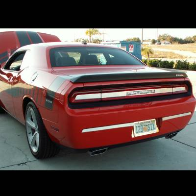 HEMI EXTERIOR PARTS - Hemi Trim Accessories - American Car Craft - American Car Craft Brushed Bumper Insert Trim Plate: Dodge Challenger R/T SRT8 2008 - 2014