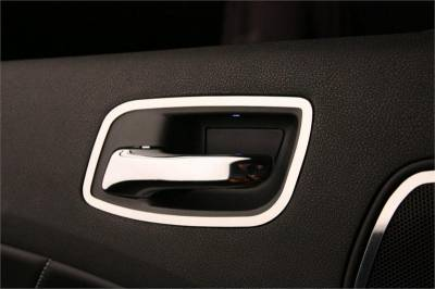 Dodge Charger Interior Parts - Dodge Charger Interior Trim - American Car Craft - American Car Craft Rear Door Handle Trim (Polished): Dodge Charger R/T 2011 - 2014
