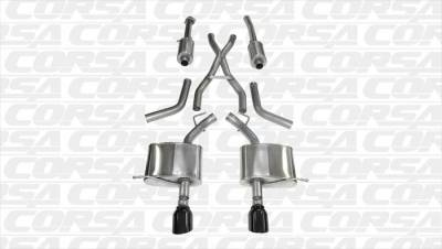 Dodge Durango Engine Performance - Dodge Durango Exhaust System - Corsa - Corsa Exhaust System (Black): Dodge Durango 5.7L Hemi 2011 - 2020
