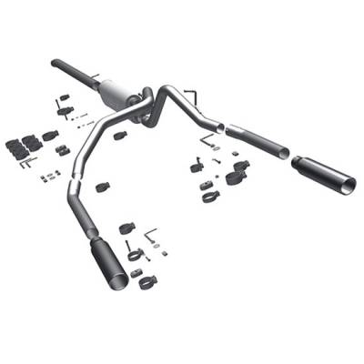 3.7L / 4.7L Engine Parts - 3.7L / 4.7L Exhaust Systems - Magnaflow - MagnaFlow Cat-Back Exhaust: Dodge Dakota 2009 - 2011 3.7L / 4.7L