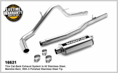 3.7L / 4.7L Engine Parts - 3.7L / 4.7L Exhaust Systems - Magnaflow - MagnaFlow Cat-Back Exhaust: Dodge Dakota 2005 - 2008 3.7L / 4.7L