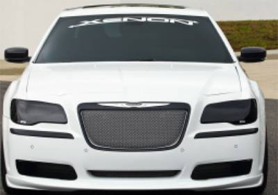Chrysler 300 Exterior Parts - Chrysler 300 Light Covers - GTS - GT Styling Smoke Headlight Covers: Chrysler 300 2011 - 2014