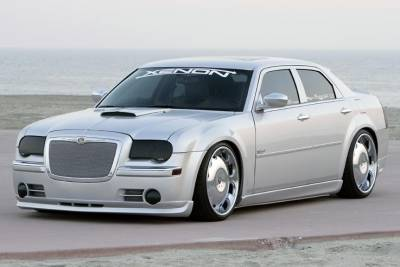 Chrysler 300 Exterior Parts - Chrysler 300 Light Covers - GTS - GT Styling Smoke Headlight Covers: Chrysler 300C 2005 - 2010
